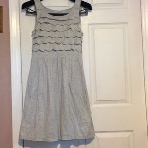 Lightweight dress gray with silver sparkles